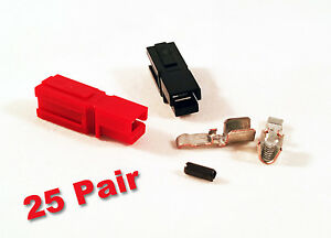 Anderson Powerpole Sermos 45amp 25 Pair Ac dc Connectors Red black