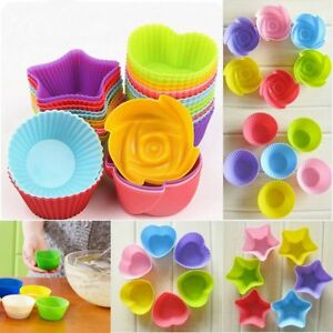 112 Cup Silicone Muffin Cupcake Baking Pan Kitchen Cake Mould Microwave Moulds