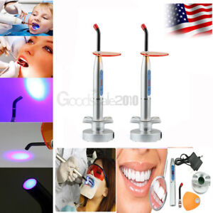 2x New Dentist Dental 10w Wireless Cordless Led Curing Light Lamp 2000mw Silver