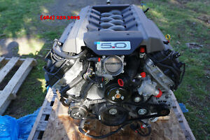 15 16 17 Ford Mustang Gt 5 0l Engine 6 speed Transmission Complete Swap 25 Miles