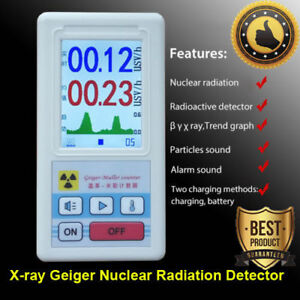 Beta Gamma X ray Geiger Counter Nuclear Radiation Detector Monitor Tester Meter