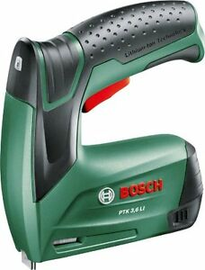 Stapler Bosch Battery Ptk 3 6 Li With 1000 Staples Charger And Box Of Metal