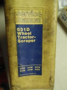 Caterpillar 631d Wheel Tractor Scraper Service Manual Binder Senr7252 Original