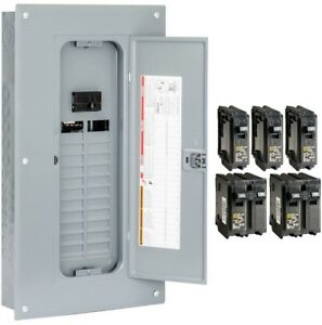 Indoor Main Breaker Panel Box 100amp 24 space 48 circuit Load Center Value Pack