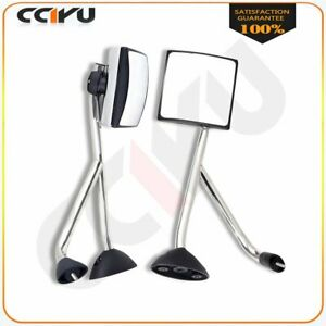 For 02 18 International Truck Hood Mirrors Chrome Manual L R Pair Side Assembly