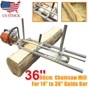 Fit 14 36 Chainsaw Guide Bar Chain Saw Mill Log Planking Lumber Cutting Usa