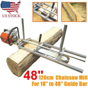 Fit 14 48 Chainsaw Guide Bar Chain Saw Mill Log Planking Lumber Cutting Usa