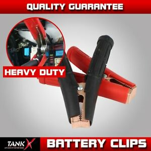 2pair 1300amp Battery Charger Clips Clamps Jumper Cable Jump Starter Heavy Duty