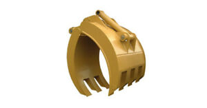 New 54 Heavy Duty Excavator Grapple For Cat 325