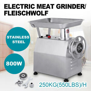 800w Commercial Meat Grinder Sausage Stuffer Electric 551lbs h Maker Filler