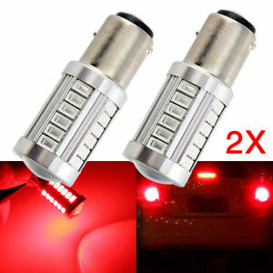 2pcs 1157 Bay15d Brake Lights Led Car Light 5730 Chip 33 Smd P21 5w Red