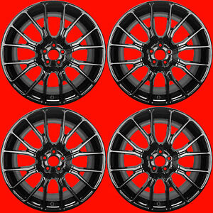 Oem Ford Mustang 20 Gloss Black Wheels Rims Factory Stock M 1007 p2085ln