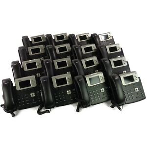 Lot Of 16 Yealink Sip t32g Voip Gigabit Color Business Office Phones W Adapters