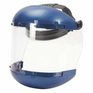 Sellstrom S38110 Blue Crown chin Guard Grinding Face Shield W Clear Window