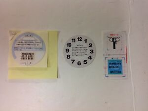 Rare Authentic Unused Jdm Decals Parking Permit Clock Inspection