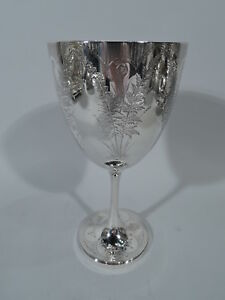 Victorian Goblet Antique Cup English Sterling Silver Roberts