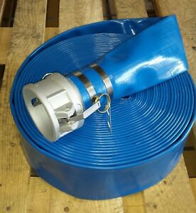 3 X 65ft Blue Water Discharge Hose With Camlock