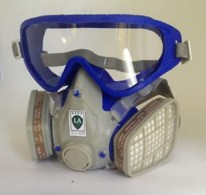 Silicone Full Face Respirator Gas Mask Goggles Comprehensive Chemical Paint Dust