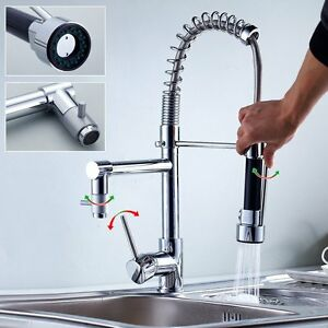 Tap Kitchen Sink Bath Shower Cano Swivel Industrial Espiral 2 En 1