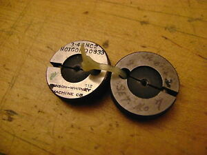 3 X 48 Thread Ring Gages Go P d 0855 No Go P d 0833