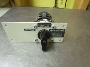 Nice Salzer S213 Us1a4746 01 600vac 2 position Rotary Cam Transfer Switch