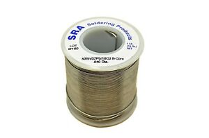 Sra Soldering Products Acid Flux Core Low Melt Solder Active Flux 1 pound New