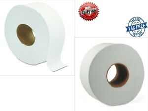 Jumbo Large 9 Roll Toilet Paper Tissue 2 Ply Commercial Bathroom Office 12 Roll
