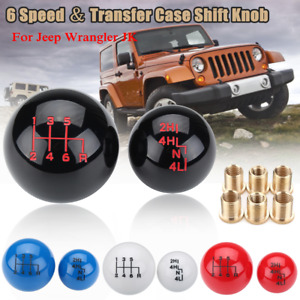 Ball Style 6 Speed Transfer Case Shift Knob For Jeep Wrangler Jk Gear Shifter