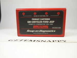Snap On 1999 Domestic Primary Cartridge Mt2500 Scanner Ford Gm Chrysler Jeep