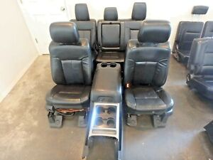 2011 2016 Ford F250 F350 Superduty Front Rear Seats Black Leather Heated Cooled