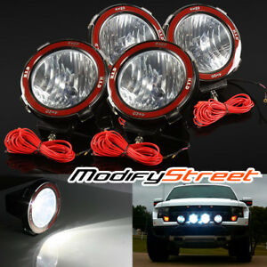 4pc 7 Inch 55w Hid Xenon Offroad Driving Flood Lights Work Search Outdoor Lamps