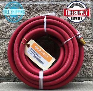 Continental Air Hose 3 8 X 50 1 4 Mnpt 300 Psi Red Rubber