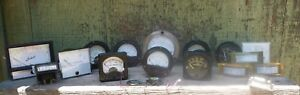 16 Vintage Hot Rod Lot Of Meters Westinghouse Simpson Triplet Volts Dc Amperes