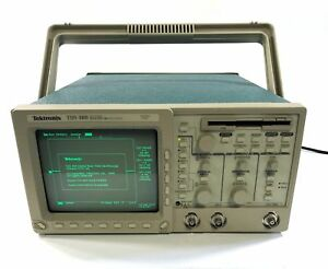 Tektronix Tds 360 Two channel Digital Real time Oscilloscope 200mhz 1gs s Tds360