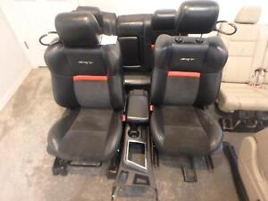08 10 Dodge Challenger Srt 8 Front Rear Seat Console Black Leather Heat Power