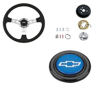 Grant Collector s Steering Wheel installation Kit blue Horn Button For Caprice