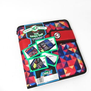 Case it The Open Tab Binders 3 Ring 2 Inch Capacity Multi Color