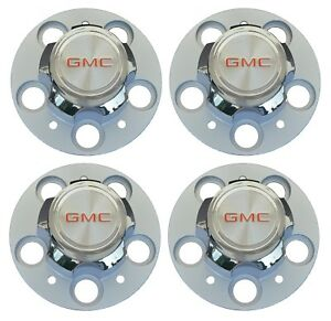 New 1977 1987 Gmc C15 C1500 Suburban 1500 Jimmy Wheel Center Hub Cap Set