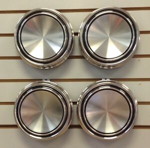 1967 1969 Mustang Torino Cougar Blank Stainless Steel Hubcap Center Cap Set Of 4