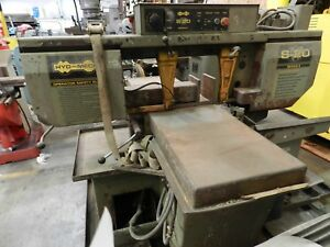 Hyd mech S 20 Series Ii Horizontal Bandsaw 24 X 13 5 Capacity Good Condition