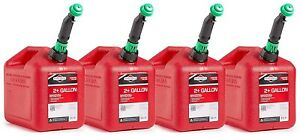 Briggs And Stratton 86023 Smart fill 2 Gallon Gas Cans 4 Pack