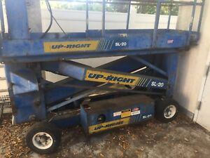 Stratolift Sa 20 20 Electric Scissor Lift Man Aerial Platform Works Well