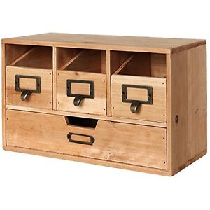 Wooden Desktop Drawers Cabinet Storage Craft Supplies Office Classrom Items New