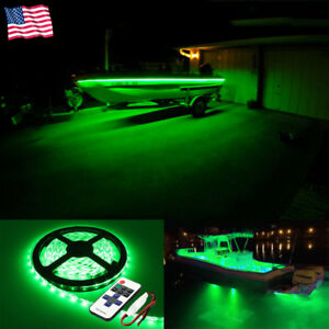 Wireless 16 Ft Green Led Strip Kit For Boat Marine Deck Interior Lighting