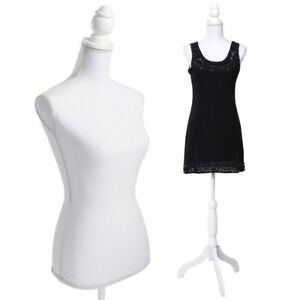 Female Mannequin Torso Dress Form Display With Tripod Stand Displaying Clothes