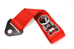Jdm Universal Mugen Racer Red Tow Strap For Front Rear Bumper Towing Hook X1