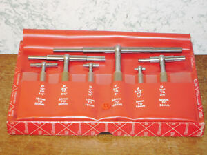 6 Pc Starrett Telescope Gage Set No S579h 5 16 To 6 Inches