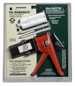 Pc Products 70529 Pc concrete Epoxy Adhesive Paste Kit With 50 Ml Cartridge And