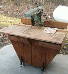 Amf Dewalt Radial Arm Saw Table Cabinet Model Mbf Works Usa Made Woodworking