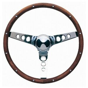 Grant 15 Wood Steering Wheel installation Kit chrome Horn Button For 61 66 Fury